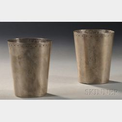 Two Silver Beakers