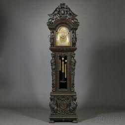 Tiffany Quarter-chiming Tubular Bell Tall Clock
