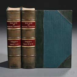 Boswell, James (1740-1795) The Life of Samuel Johnson,   Extra-illustrated.