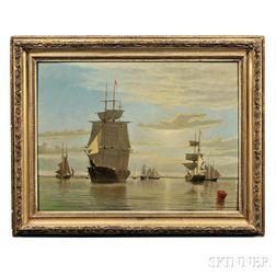 William Bradford (Massachusetts/California, 1823-1892)      Boston Harbor