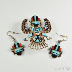 Two Zuni Inlay Jewelry Items