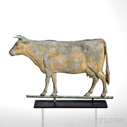 Small Sheet Copper Cow Weathervane