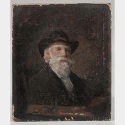 William Willard (Massachusetts, 1819-1904)      Self Portrait Holding a Palette