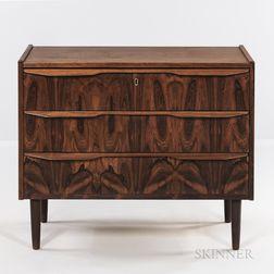 Danish Modern Three-drawer Chest.