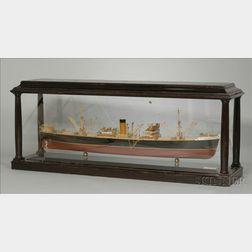 Half-Hull Boardroom Model of the Screw Steamer Dubrovnik