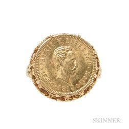 1 Peso 1915 Cuban Coin Ring