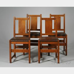 Four L. & J.G. Stickley Dining Chairs