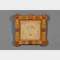 Two Carved Tramp Art Frames
