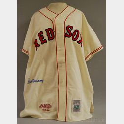 Ted Williams Autographed Mitchell & Ness Cooperstown Collection Boston Red Sox   #9 Home Jersey