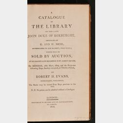 (Library Sale Catalog), Roxburghe, Duke of