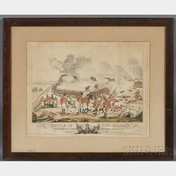 Joseph Yeager, engraver and publisher (Philadelphia, 1792-1859) Battle of New Orleans and Death of Major General Packenham on the 8th o
