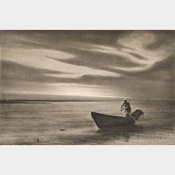 Kerr Eby (American, 1889-1946)      The Doryman