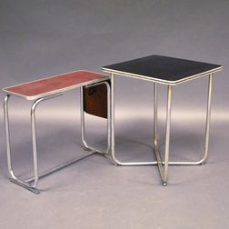 Two Tubular Steel Tables