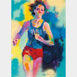 LeRoy Neiman (American, 1921-2012)      Mary Decker
