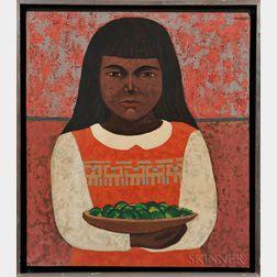 Mario Miguel Mollari (Argentinian, 1930-2010)      Girl with Fruit