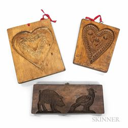 Three Carved Wood Cookie Boards