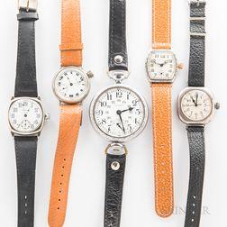 Five Waltham Wristwatches