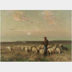 William Henry Howe (American, 1846-1929)  The Shepherdess
