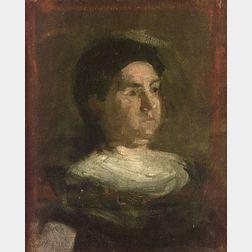 Thomas Eakins (American, 1844-1916)  Portrait Sketch of Maybelle Schlichter