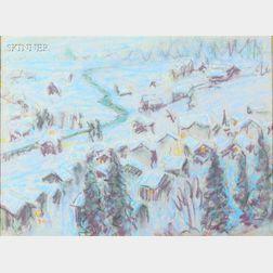 William Samuel Horton (American, 1865-1936)      Twilight in Winter
