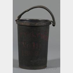 Painted Rubber Fire Bucket