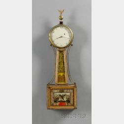 """Federal Patent Timepiece or """"Banjo"""" Clock"""