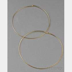 Two 18kt Gold Necklaces