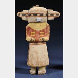 Southwest Polychrome Carved Wood Kachina