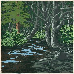 Neil Welliver (American, 1929-2005)      Duck Trap