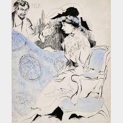 Jacques Villon (French, 1875-1963)      La toile de Jouy, vous ne pouvez pas trouver mieux pour votre chambre a coucher