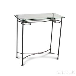 Stowe County Ironworks Wrought Steel and Glass Table