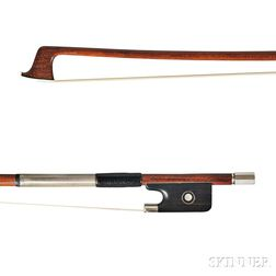 French Silver-mounted Violin Bow, Joseph Arthur Vigneron