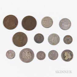 Thirteen American Coins