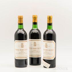 Chateau Pichon Lalande 1975, 3 bottles