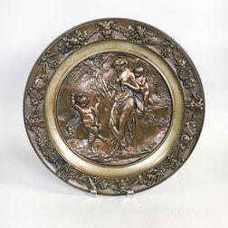 Cast Bronze Relief Plaque of a Classical Scene