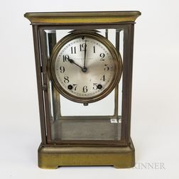 Seth Thomas for Tilden-Thurber Brass and Glass Crystal Regulator