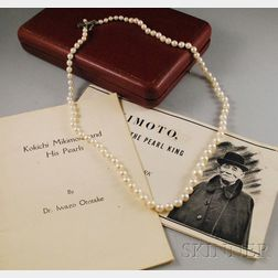 Vintage Mikimoto Cultured Pearl Necklace