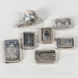 Six Pieces of Georgian Sterling Silver