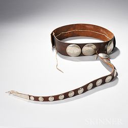 Southern Plains German Silver Concha Belt