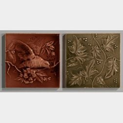 Two Cambridge Tile Manufacturing Co. Art Pottery Tiles