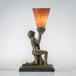 Figural Lamp in the Style of Pierre Le Faguays