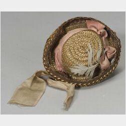 Straw Fashion Doll's Hat