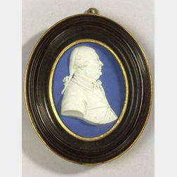 Wedgwood Dark Blue Jasper Dip Portrait Medallion of George Temple