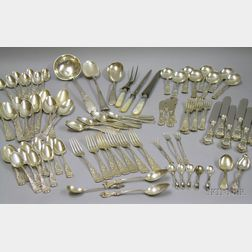 Large Lot of Assorted Mostly Sterling Silver Flatware