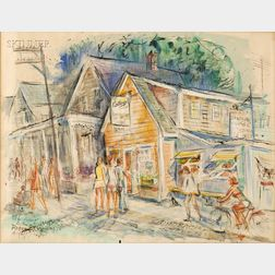 Charles Peter Demetropoulos (American, 1912-1976)      The Cottage Restaurant, Provincetown