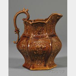 Rockingham Glazed Pottery Pitcher