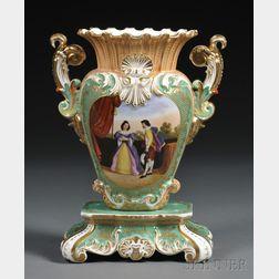 Jacob Petit-style Paris Porcelain Vase-on-stand