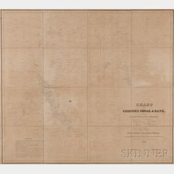 Georges Bank, Charles Wilkes (1798-1877) Chart of Georges Shoal & Bank
