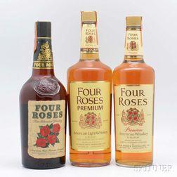 Four Roses, 1 1-quart bottle 2 4/5-quart bottles 5 1/10-pint bottles
