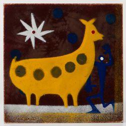 John Francis Stenvall (1907-1998) Enameled Copper Tile